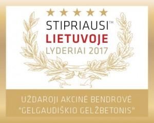 Gelgaudiškio gelžbetonis stipriausi Lietuvoje 2017