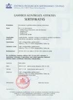 Šulinių elementų sertifikatas