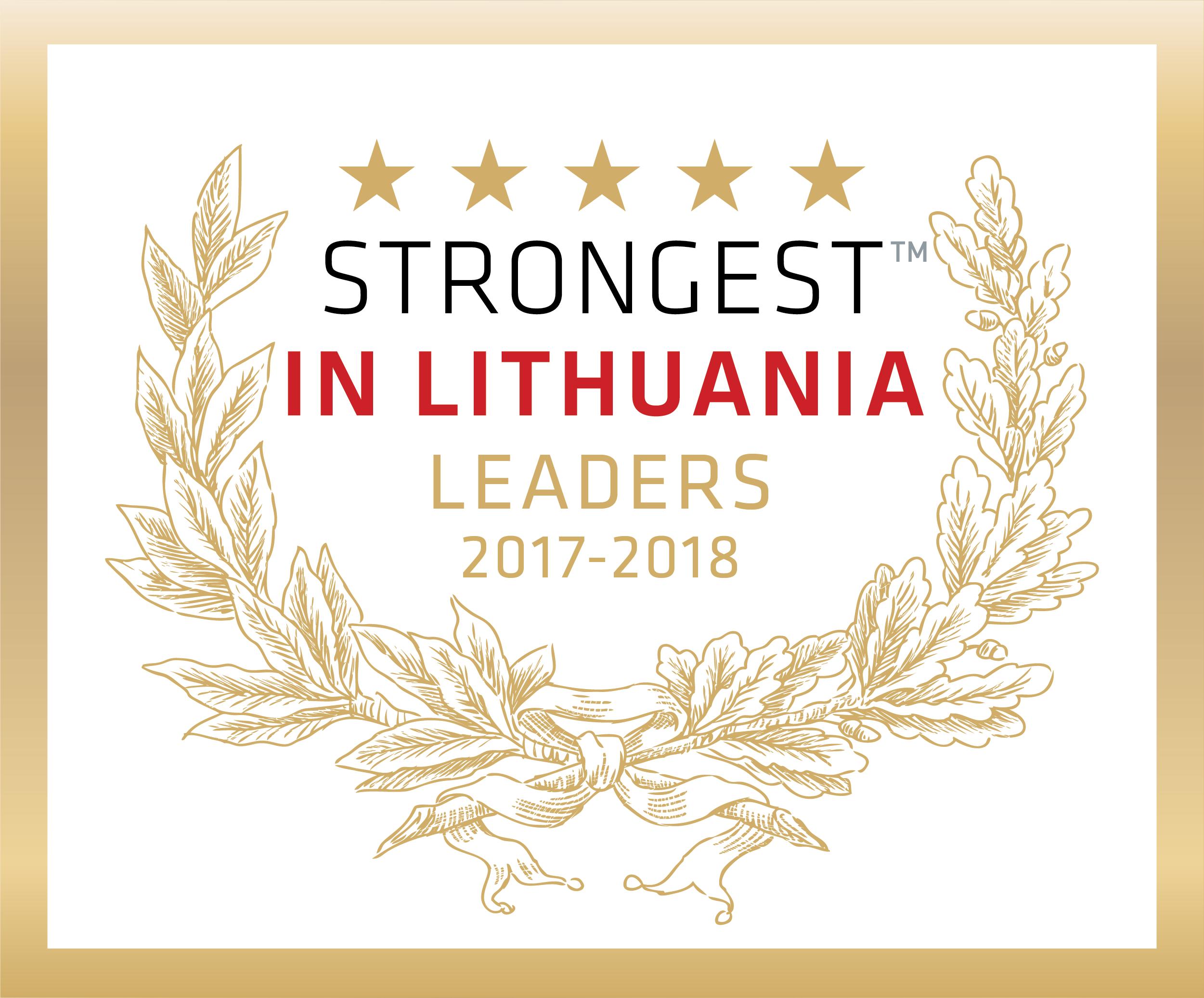 Stipriausi Lietuvoje 2012-2018